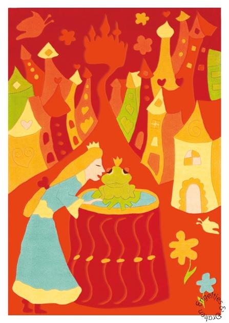 Arte Espina, Vloerkleed prinses en de kikker 110 x 160 cm.-0
