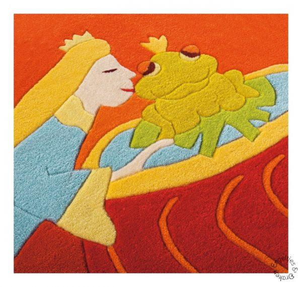 Arte Espina, Vloerkleed prinses en de kikker 110 x 160 cm.-4323