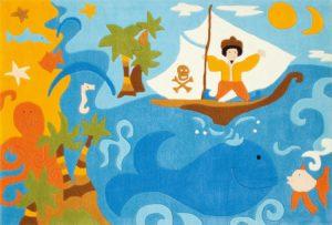 Arte Espina, Vloerkleed piraat op zee 110 x 160 cm.-0