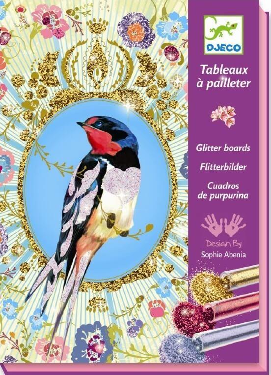 Glitterkunst birds, Djeco