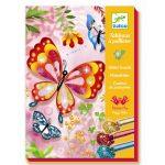 Knutselen met glitters vlinders, Djeco