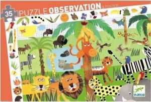 Puzzel jungle observatie, Djeco