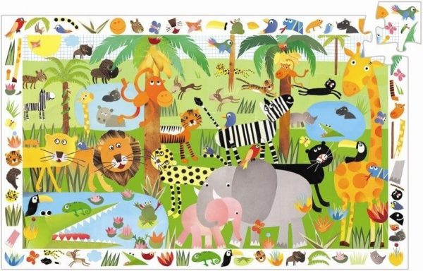 Puzzel jungle observatie, Djeco