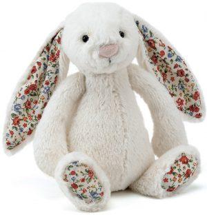 Knuffel konijn, Bashful blossom bunny cream, Jellycat
