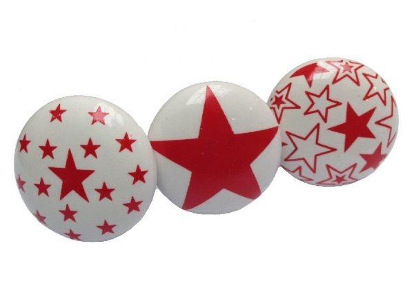 Deurknop ster rood | La Finesse |Engeltjes & Draken!