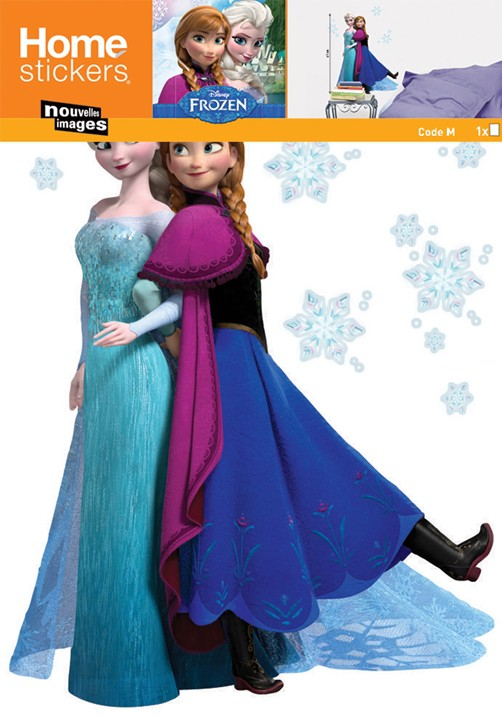 Nouvelles Images, Muurstickers Disney Frozen, Anna & Elsa-0