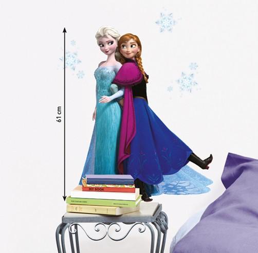 Nouvelles Images, Muurstickers Disney Frozen, Anna & Elsa-9864
