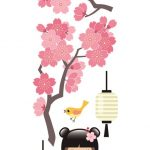 Nouvelles Images, Raamstickers cherrytree & kokeshi-0