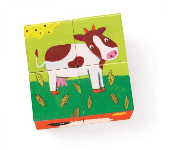Puzzelblokken boerderij, Djeco
