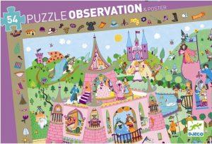 Puzzel prinsessenkasteel observatie, Djeco