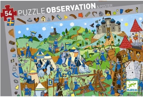 Puzzel ridderkasteel observatie, Djeco