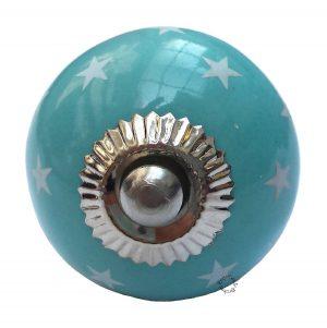 La Finesse, Deurknop blauw rond met witte sterren-0