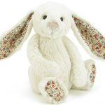 Knuffel konijn   Bashful blossom cream bunny 31 cm   Jellycat   Engeltjes & Draken