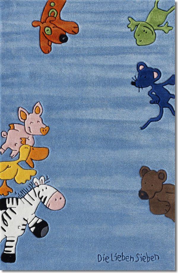 boing carpets vloerkleed lieve zeven blauw