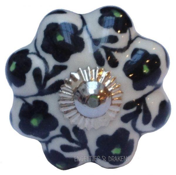 Deurknoop bloem zwart groen