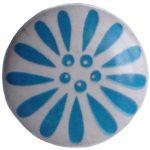 Deurknop bloem blauw