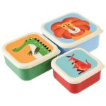 Snackdoosjes kleurrijke dieren, Rex London