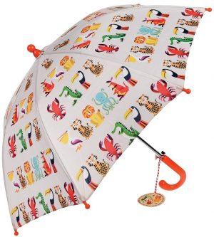 Paraplu kleurrijke dieren, Rex London