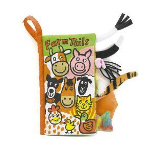 Knisper staartenboek boerderijdieren, Jellycat