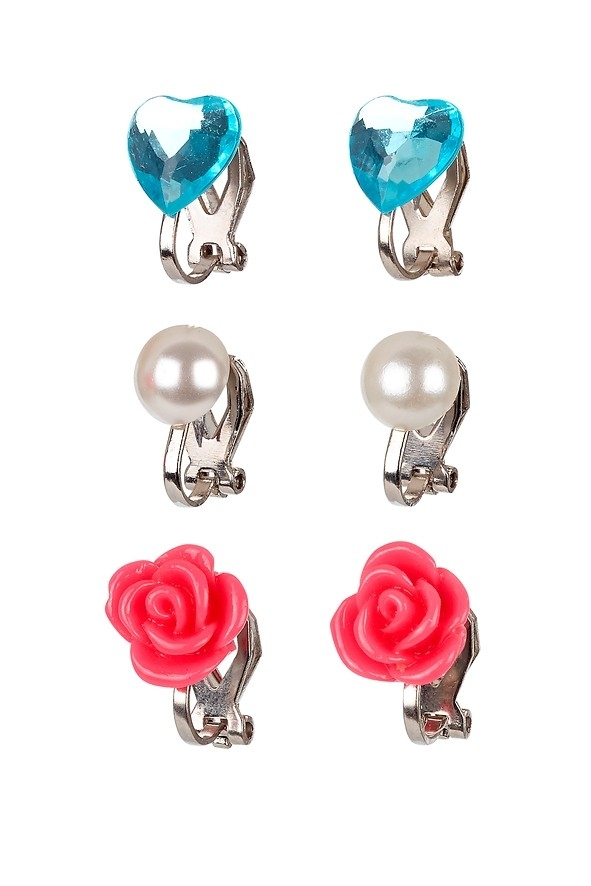 Souza for Kids, Clip oorbellen Hila roze/blauw