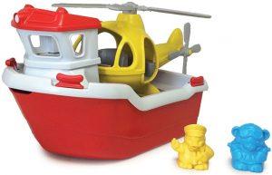 Reddingsboot met helikopter, Green Toys