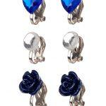 Clip oorbellen Hila blauw, Souza for Kids