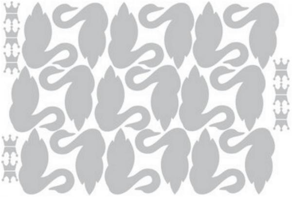 Muurstickers zwaan grijs, Eina Design