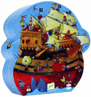 Puzzel piratenschip, Djeco
