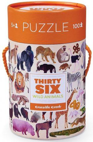 Puzzel wild animals (100 stukjes), Crocodile Creek