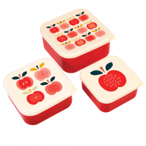 Snackdoosjes set vintage apple, Rexinter