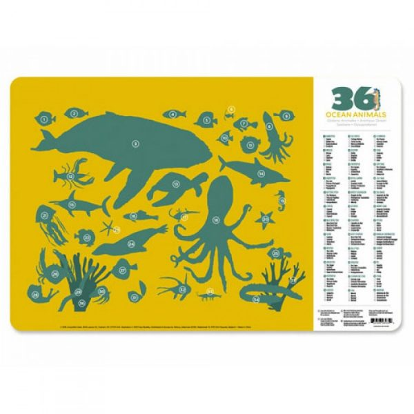 Placemat oceaandieren, Crocodile Creek