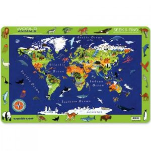 Placemat werelddieren, Crocodile Creek