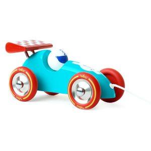 Race trekauto blauw rood, Vilac