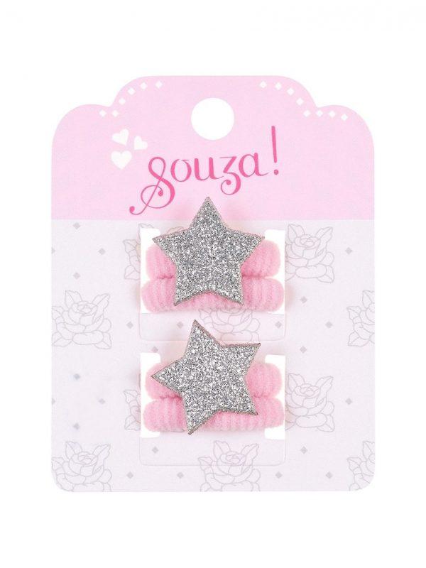 Souza for Kids, Haarelastiekjes Aubrey roze-0