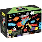 Mudpuppy, Glow in the dark puzzel super hero (100 stukjes)-0