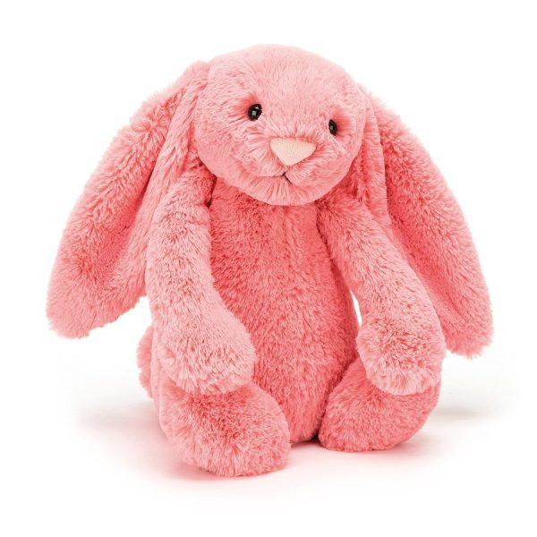 Knuffel konijn Bashful bunny coral 18 cm., Jellycat
