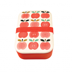 Broodtrommel vintage apple bamboe, Rex London