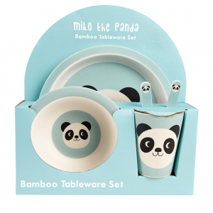 Bamboe servies Miko the panda, Rex London