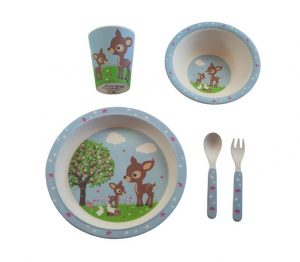 Bamboe kinderservies woodland, Bobble Art