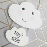 Deurhanger baby's room sweet dreams cloud