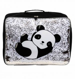 Koffer glitter panda, A Little Lovely Company