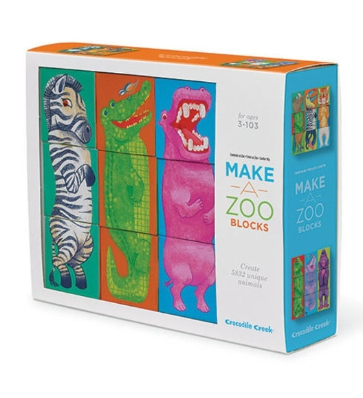 Blokken puzzel make a zoo, Crocodile Creek