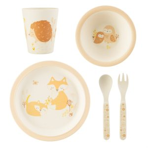 Bamboe servies woodland fox Sass & Belle