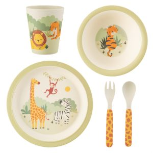 Bamboe servies savanna safari Sass & Belle