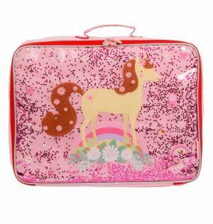 Koffer glitter paard, A Little Lovely Company