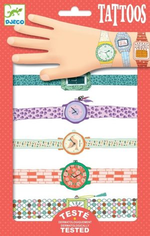 Tattoos Wendy's watches, Djeco