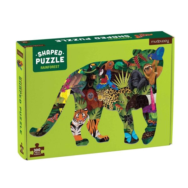 Shaped puzzel regenwoud (300 stukjes), Mudpuppy
