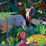 Glow in the dark puzzel jungle (500 stukjes), Mudpuppy