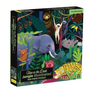 Glow in the dark puzzel jungle (500 stukjes), Mudpuppy