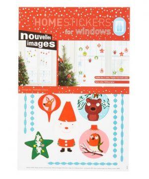 Raamstickers vrolijke kerstballen, Nouvelles Images